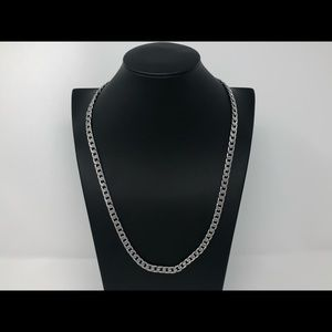 Other - Mens silver cuban link chain 24 inch 7mm